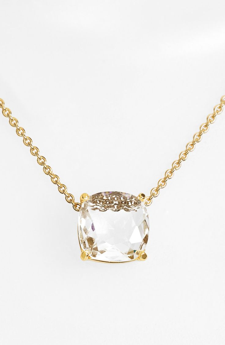 kate spade new york 'cause a stir' stone pendant necklace