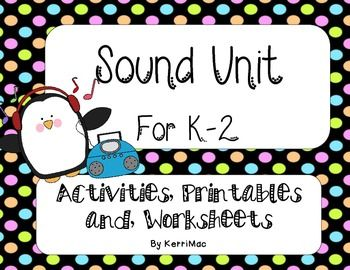 First Grade Second Grade Science Unit SOUND - GREAT!! Saved me so much time! Pitch, volume, vibrations, and hands on activities!!