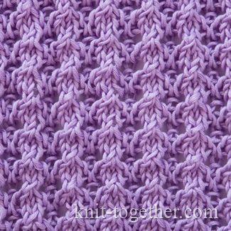 Lace Pattern 1, knitting pattern chart, Eyelet and Lace Stitch Patterns