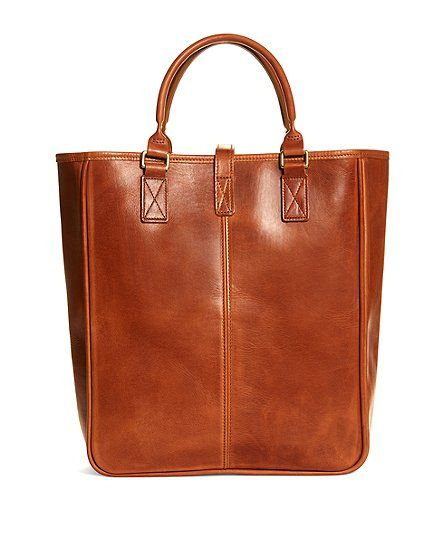 J.W. Hulme Leather North South Tote Bag, Made in Saint Paul, Minnesota