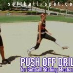 """Push Off"" Drill for Softball Pitching Mechanics"