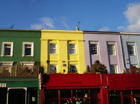 Rainbow shop fronts in Notting Hill via http://townfish.com. Follow us: http://twitter.com/townfish_london