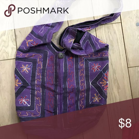 Venice Beach Crafted Purple Shoulder Bag Excellent Venice Beach Crafted Purple Shoulder Bag Bags Shoulder Bags