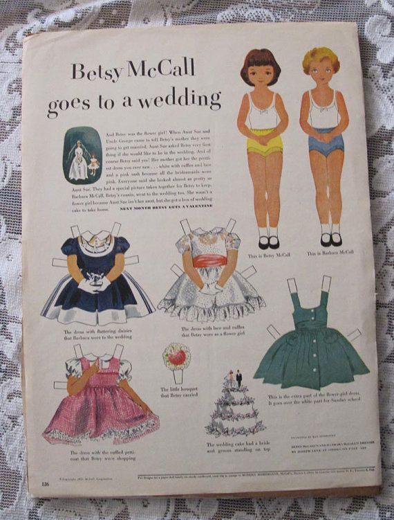 577 best Betsy McCall paper dolls images on Pinterest | Vintage ...