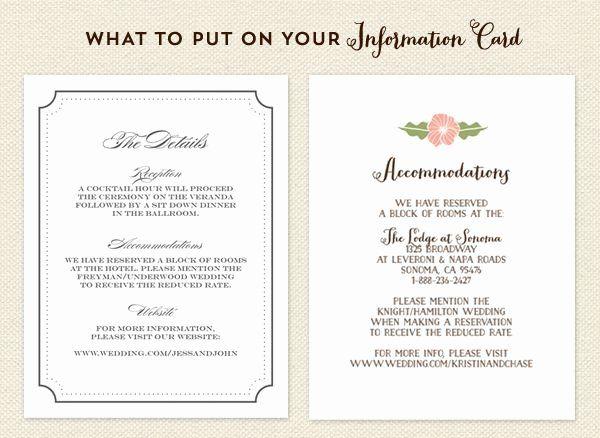Wedding Information Card Template Free Inspirational Ac Modations Card On Pinterest Cheap Wedding Invitations Wedding Cards Wedding Invitations
