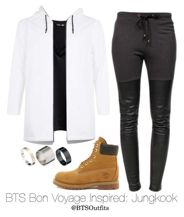 """""""BTS Bon Voyage Inspired: Jungkook"""" by btsoutfits ❤ liked on Polyvore featuring H&M, Topman, Timberland, Ragdoll and Just Acces"""