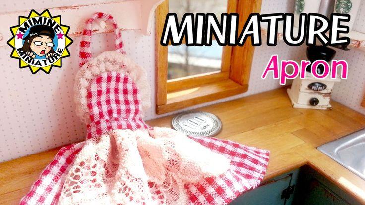 미니어쳐 앞치마 만들기 miniature- Apron