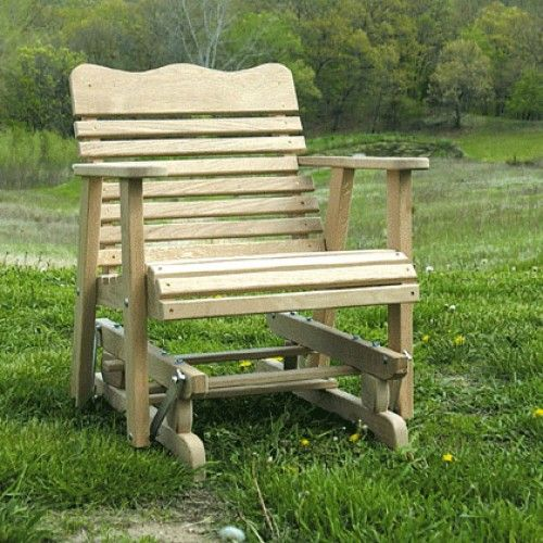 Amish outdoor furniture colonial single porch swing glider for How to build a swing chair
