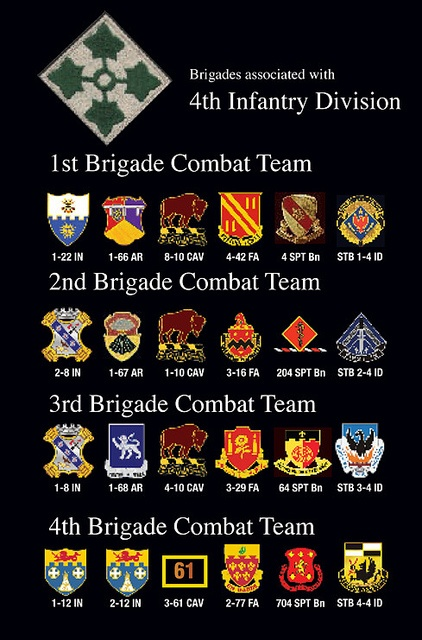 4th Infantry Division Units by D'oh Boy (Mark Holloway), via Flickr