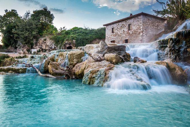 Aguas termales en la Toscana italiana.