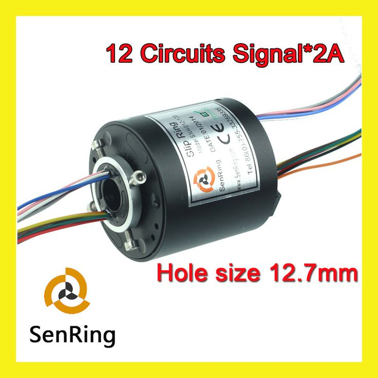 sale miniature generator motor hole size senring 12 7mm with 12 circuits signal of through bore slip #motor #generator