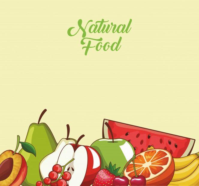 Dibujos Animados De Comida De Frutas Naturales Y Organicos Dibujos Frutas Fruta