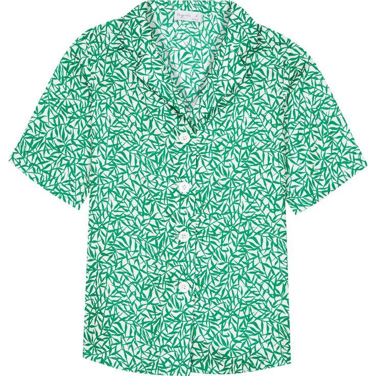 chemise abigaelle verte la chemise veste Abigaelle çonçue en tissu doux et fluide, propose un imprimé coloré idéal pour la saison estivale. Sa fermeture boutonnée nacrée et son col tailleur apporte une certaine structure à l'ensemble.