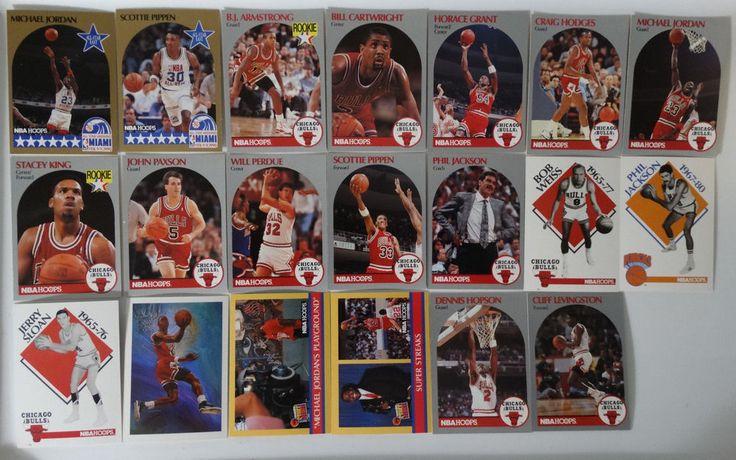 1990-91 Hoops Chicago Bulls Team Set Of 20 Basketball Cards (Missing #62 Davis)  #ChicagoBulls