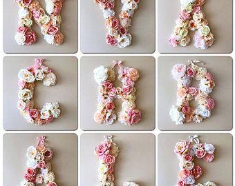 Matrimonio lettere lettere floreale Vintage wedding decor /