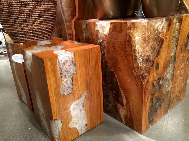 Vegas 2015 trends - wood and resins