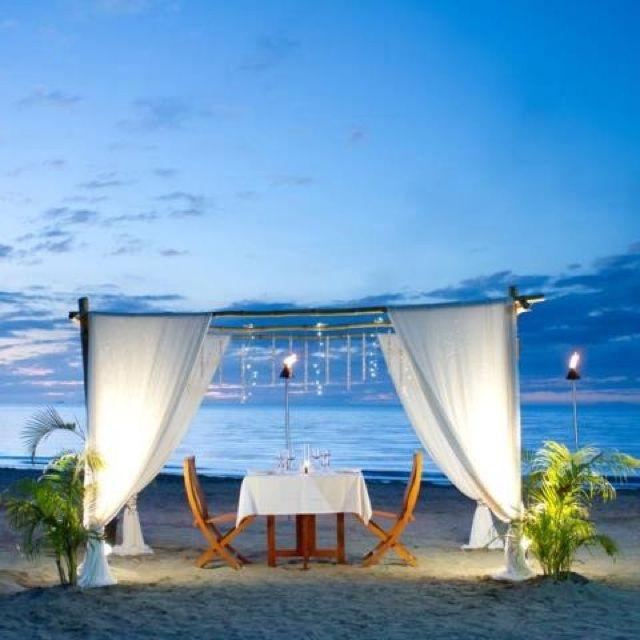 Romantic beach dinner at Fiji Beach Resort & Spa, Fiji  www.islandescapes.com.au