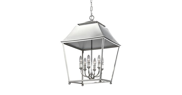 Designed without glass panes for a more open, airy feel, this stainless steel pendant updates a classic lantern look with a polished nickel finish and open vents at the top that allow light to cast...