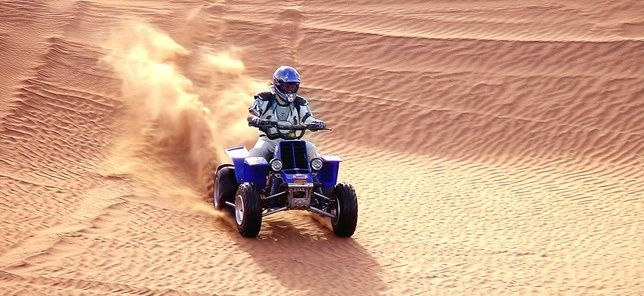 Quad Bike Ride in Dubai is something you just can't miss when you're here....its whole NEW level of world...the sandworld!....