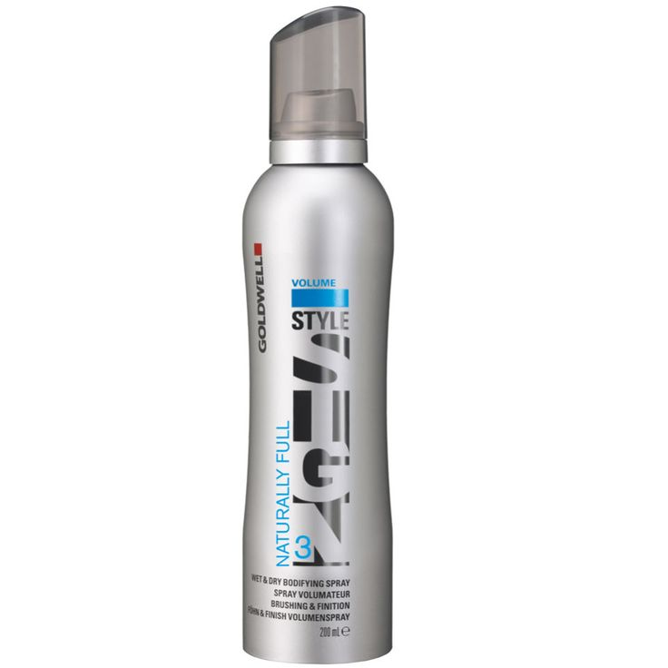 NEW| Goldwell Australia Style Sign Naturally Full 3 Wet & Dry Bodifying Spray 200ml  Builds a flexible support net around each individual hair to create a natural fullness that lasts throughout the day. Style Sign Naturally Full can be used on wet or dry hair and delivers multi-talented results without any stickiness or residue.