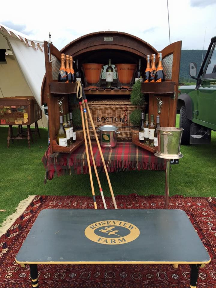 Polo Glamping - let's hope they remember to replace the divots!!