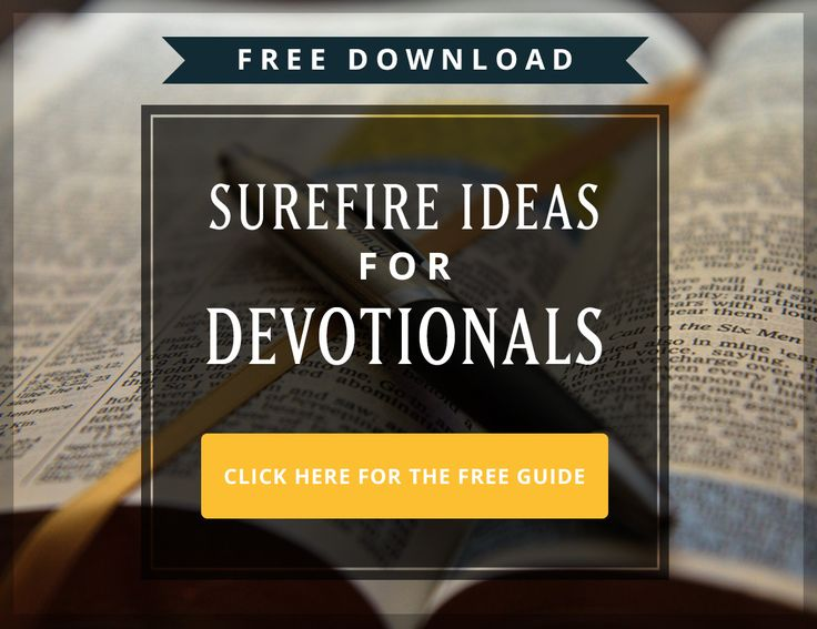 How to Write a Devotional. Super helpful. And links to submissions guidelines too.