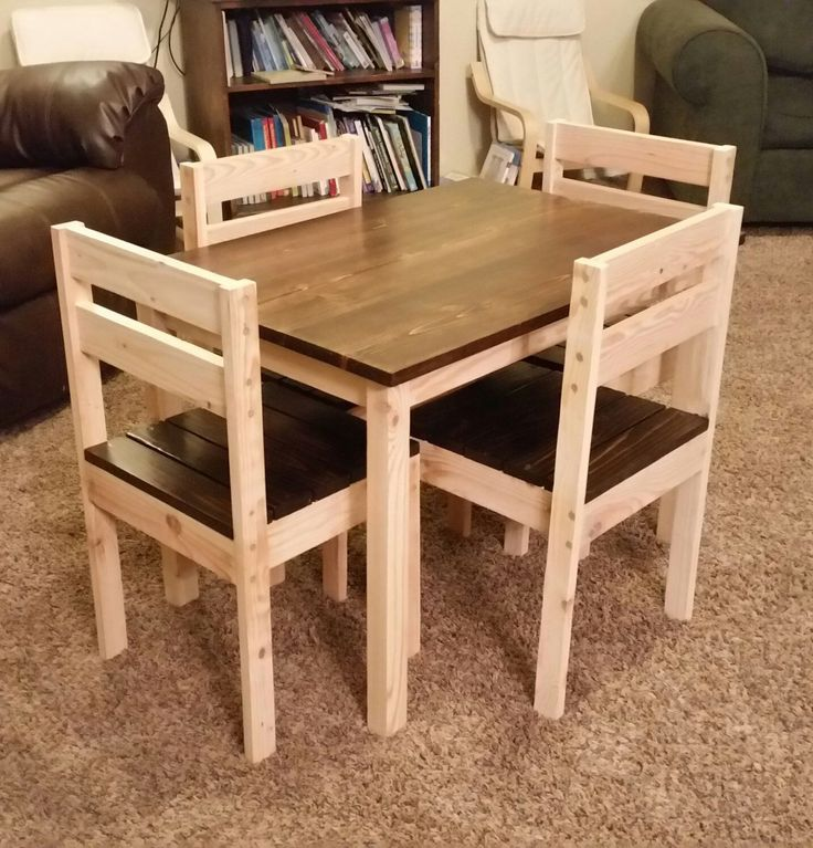 Kids table and chairs | Do It Yourself Home Projects from Ana White                                                                                                                                                                                 More