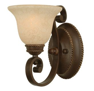 view the craftmade riata 1 light bathroom wall sconce 12 inches wide at