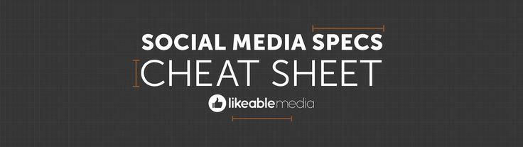 The Ultimate Cheat Sheet for Social Media Dimensions (Updated) | Likeable Media - A Social Media and Word of Mouth Marketing Firm