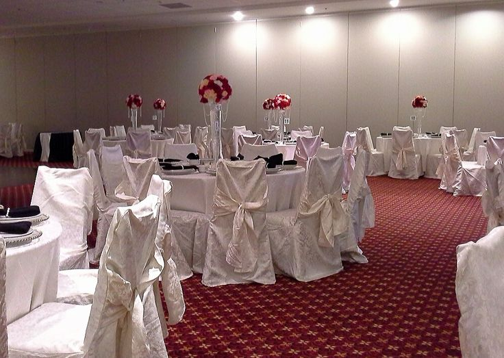 tall rose ball centerpieces; design by Davis Floral Creations
