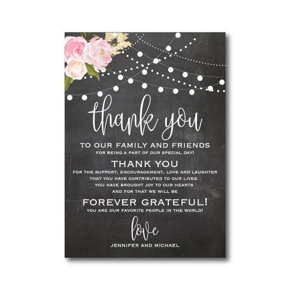 Wording Ideas For Wedding Thank You Cards : ... Wedding thank you, Wedding thank you wording and Thank you card