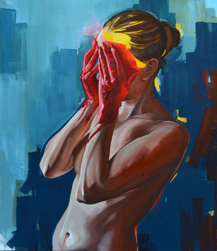 Blood is Life vol.2 oil on canvas, 140x120cm Eva Fajcikova fajcikova.com