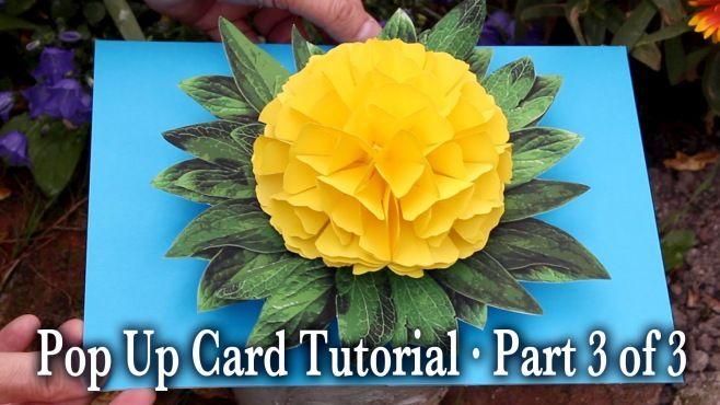 3D Kağıt Kart Yapımı Bölüm 3 - 3D kağıt dersleri - teknikleri, örnekleri ve ipuçlarını videolu anlatımı