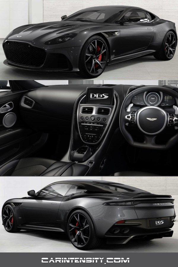 Aston Martin Dbs Superleggera Configured Gloss Xenon Grey Smoked Tail Lights Carbon Fibre Roof Strake Gloss Black Roof 21 Forged Y Spoke Wheels