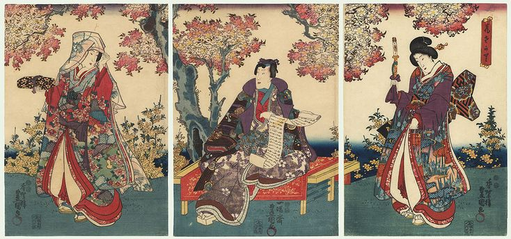 Flowers in Full Bloom, 1847 - 1852 by Toyokuni III/Kunisada (1786 - 1864)