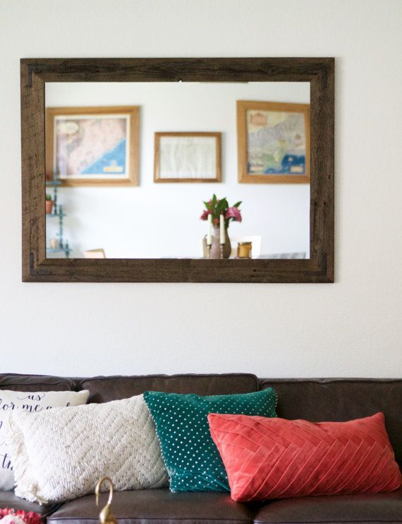 42x30 Reclaimed Wood Mirror   Large Wall Mirror   Rustic Modern Home   Home  Decor. Best 25  Large wall mirrors ideas on Pinterest   Wall mirrors