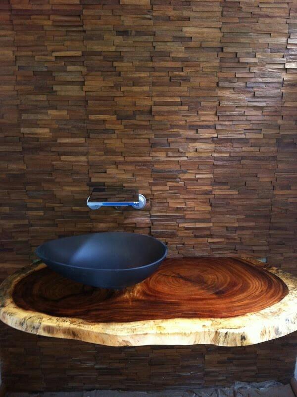 Parota Bathroom Countertop by Denis Meyniel