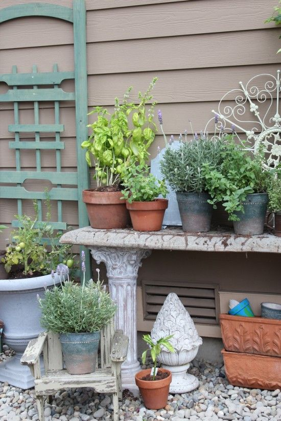Make this charming potting table a reality right in your own backyard - make it your weekend project!