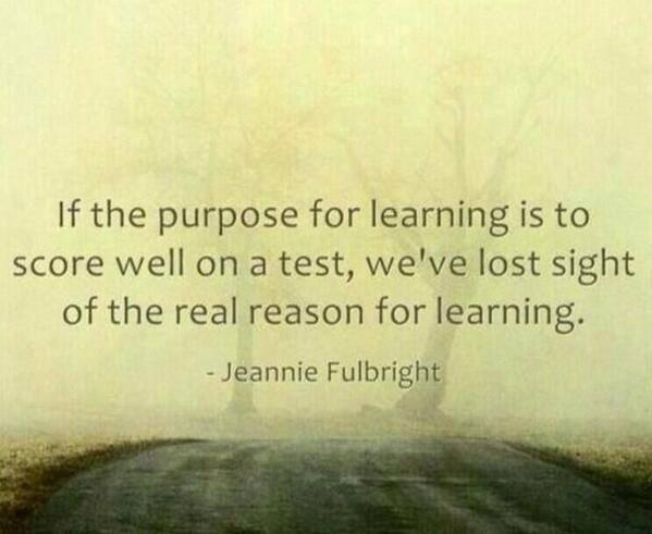 ο σκοπός της μάθησης