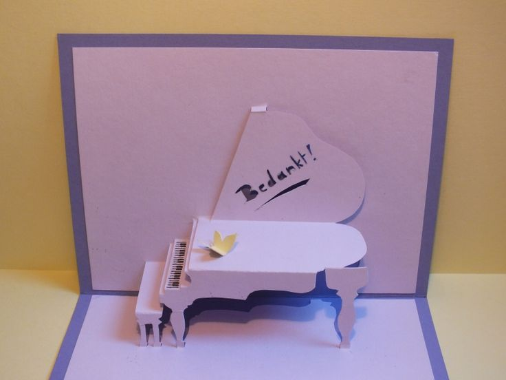 Great piano card DIY. Including free to use template. http://www.cutoutandkeep.net/projects/piano-pop-up-card