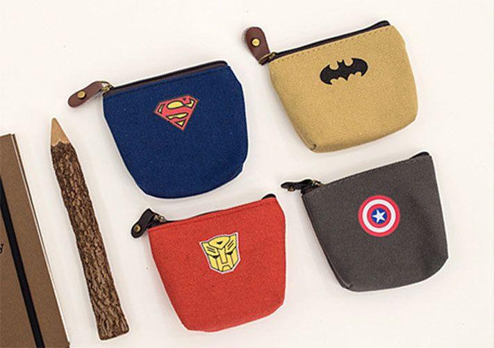 New Marvel Hero Character Emblem Mini Zip Pocket Coin Purse Wallet 4 Options | eBay