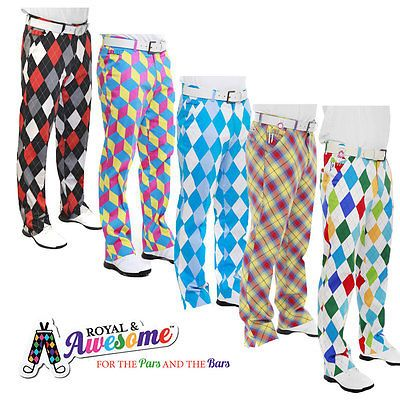 Royal and awesome #funky golf #trousers diamonds and #checks **sale**sale**sale**,  View more on the LINK: http://www.zeppy.io/product/gb/2/181584974465/