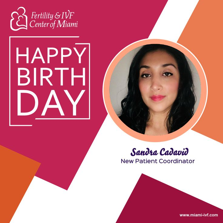Our first birthday wishes of 2018 are for our New Patient Coordinator, Sandra.    When you give us a call she is the person to help set you up on your Fertility Journey.    Sandra, from all of your #FIVFFamily, we wish you the happiest birthday y que cumplas muchos mas!