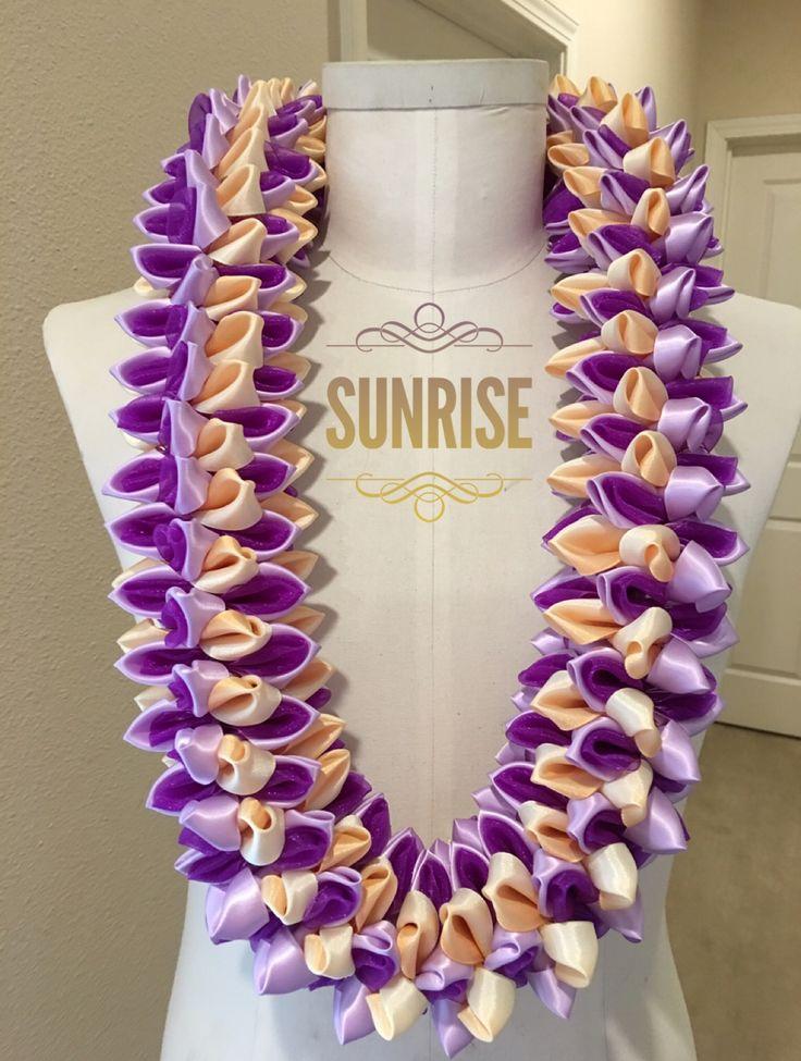 Sunrise ribbon lei