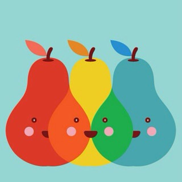 Pears: Wall Art, Illustrations Art, Crafts Rooms, Cuarto Infantil, Color Mixed, Primary Color, Art Design, Art Supplies, Kids Rooms