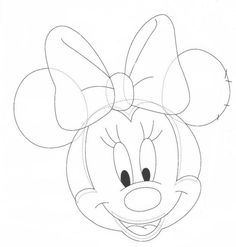 Ideas y material gratis para fiestas y celebraciones Oh My Fiesta!: Moldes de la cara de Minnie Mouse.