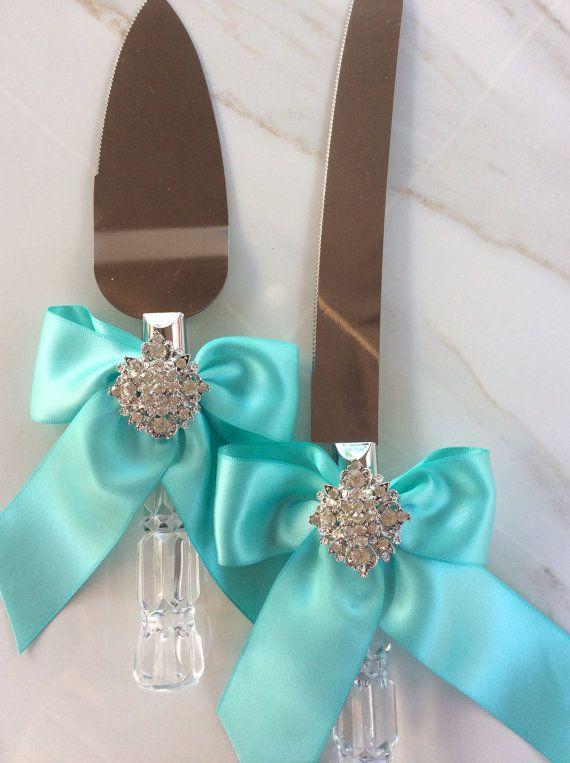 Wedding Cake Knife Set by AVAandCOMPANY on Etsy, $29.99