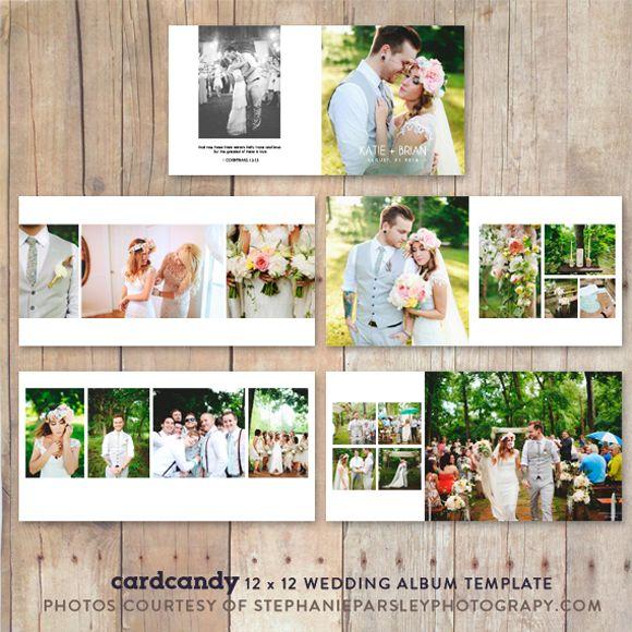 Wedding Album PhotobookTemplate12x12 by cardcandy on Creative Market