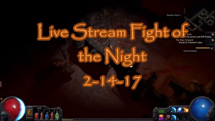 Path of Exile: Live Stream Fight of the Night - Brutus ( Hardcore )