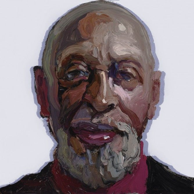 Man on Almost White Violet Grey